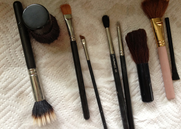 cleaned makeup brushes Clean Makeup Brushes   How to Tutorial