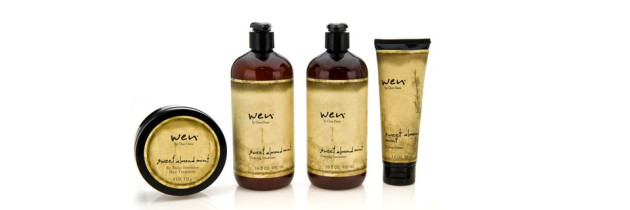 WEN Hair Review – WEN Sweet Almond Mint Hair Collection
