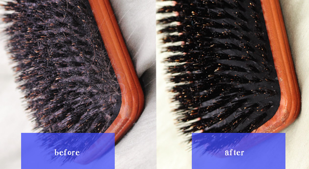 before after clean brush1 How to Properly Clean your Hair Brush