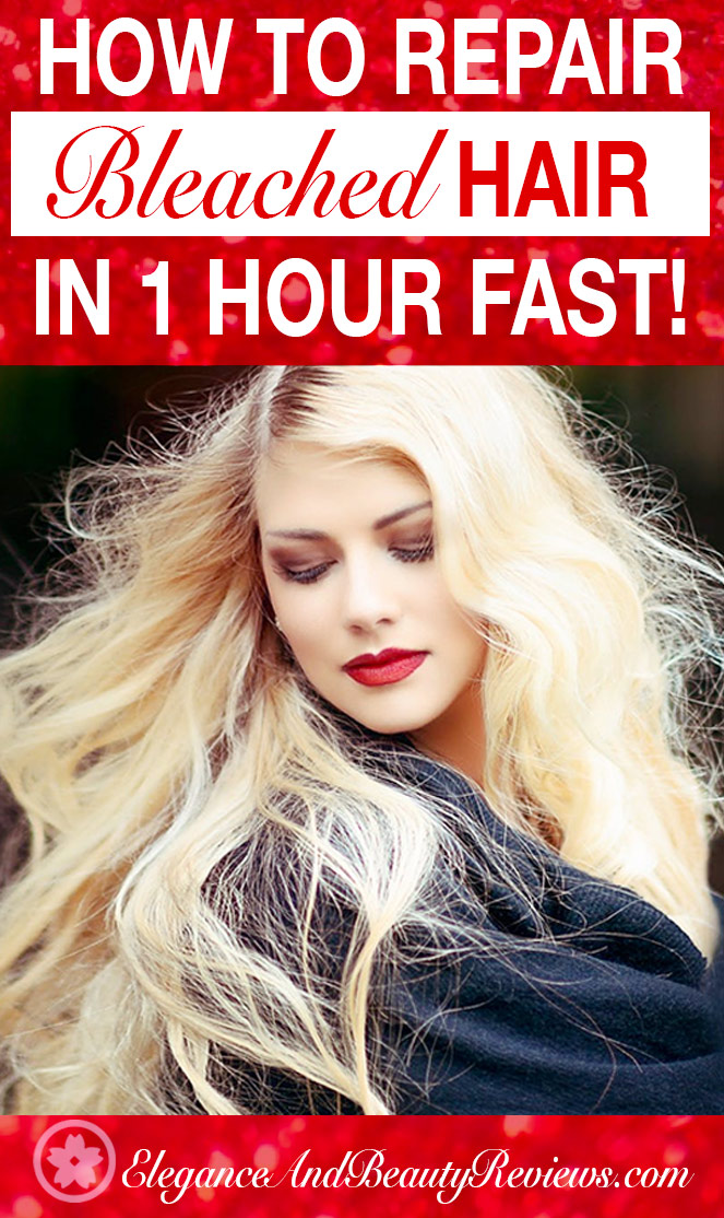 How To Repair Bleached Damaged Hair Fast 1 Hour Easy Remedy