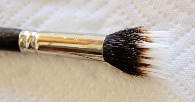 Squeaky clean makeup brush! Lay flat to dry