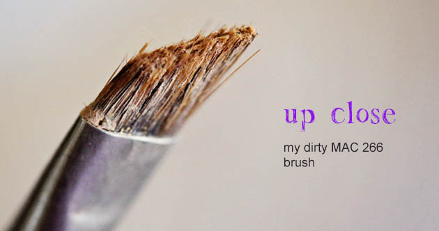 dirty MAC 266 brush How to Clean Makeup Brushes with Dish Soap   Cheap and Easy!