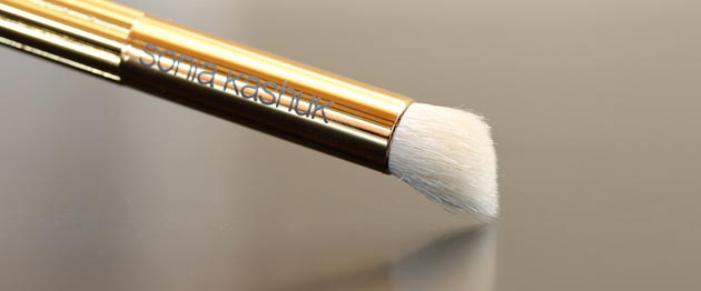 sonia kashuk angled crease brush Sonia Kashuk Makeup Brush Review   10 Brush Review Gold Limited Edition