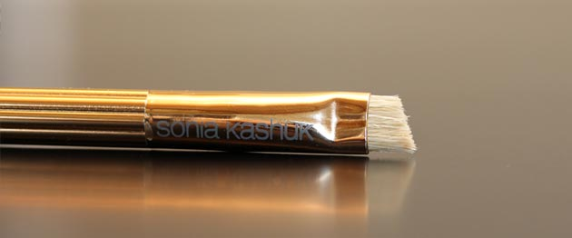 sonia kashuk brow brush review Sonia Kashuk Makeup Brush Review   10 Brush Review Gold Limited Edition