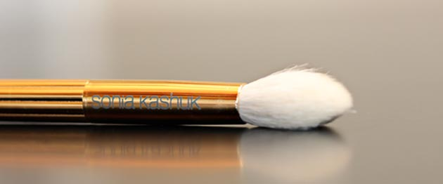 sonia kashuk pointed blending brush Sonia Kashuk Makeup Brush Review   10 Brush Review Gold Limited Edition