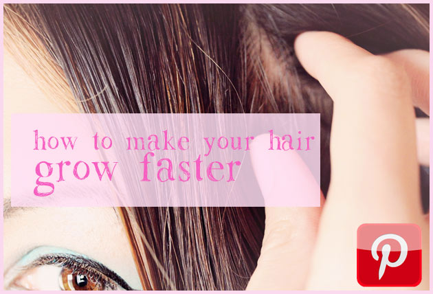 how to make your hair grow faster pin How to make your hair GROW FASTER