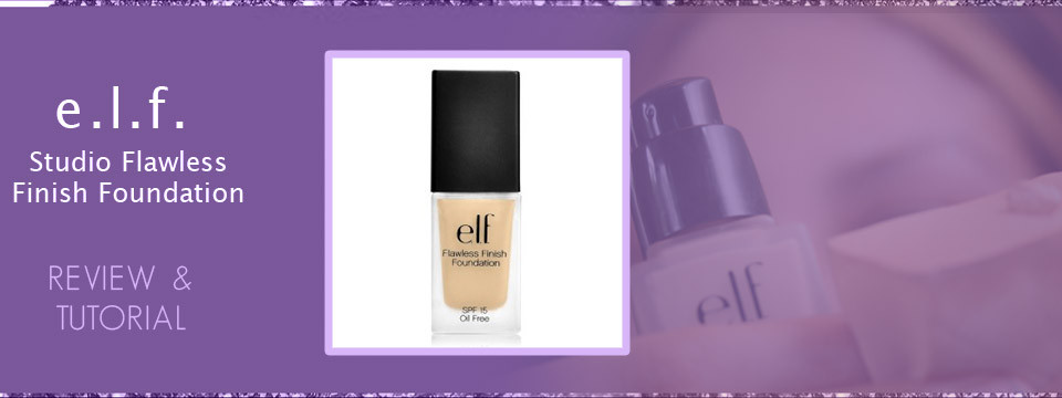 Elf Studio Flawless Finish Foundation Review E.L.F. Cosmetics