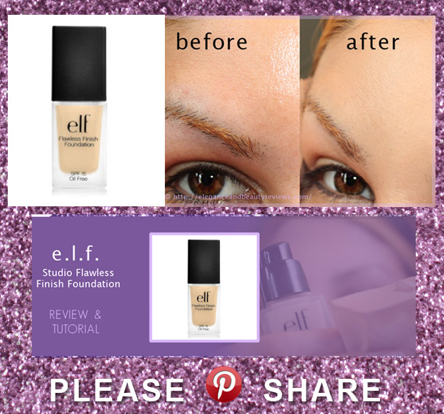 PINTEREST Elf Studio Flawless Finish Foundation Review E.L.F. Cosmetics
