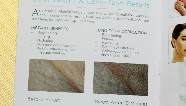AlureVe Skin Care Review brochure