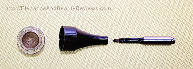 LORAC PRO Metallic Cream Eyeliner Review - Brush taken apart