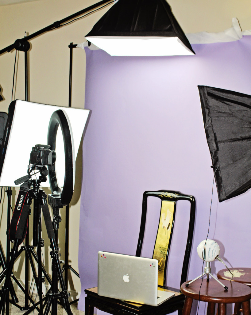 lighting and video equipment