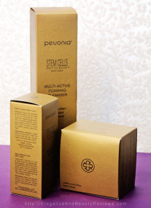 Pevonia packaging