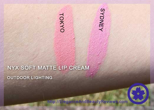 Outdoor lighting of the NYX soft matte lip creams: Tokyo and Sydney     Outdoor lighting of the NYX soft matte lip creams: Tokyo and Sydney