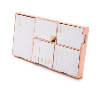 Kate Spade New York Women's Strike Gold Sticky Note Set
