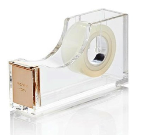 Kate Spade New York Acrylic Tape Dispenser Gold