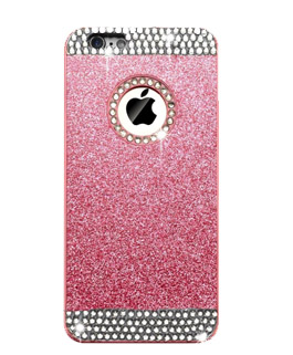 pink glitter cell phone