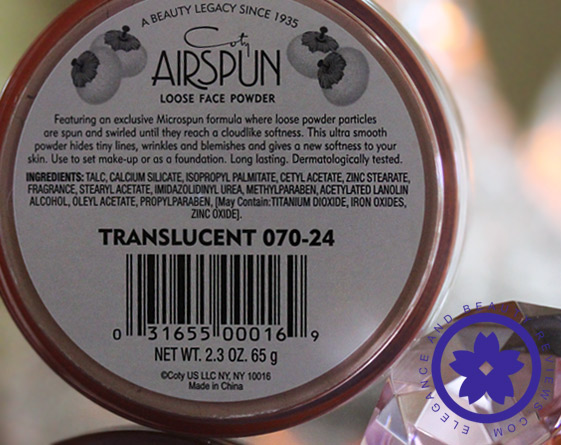 coty airspun ingredients