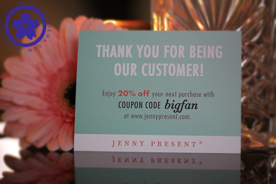 jenny present coupon code