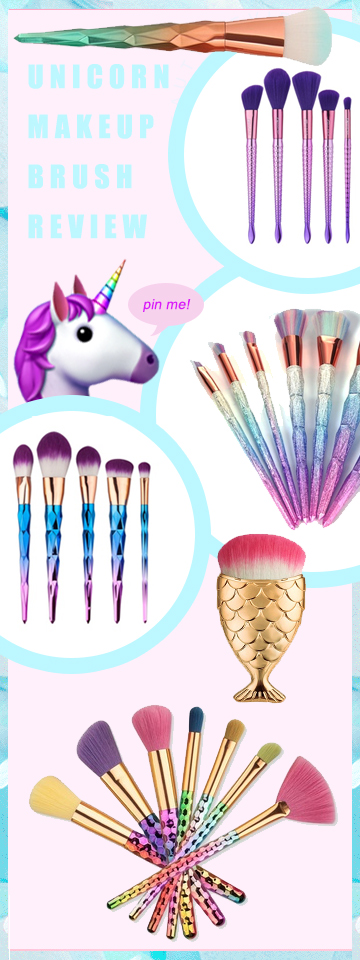 unicorn makeup brushes review