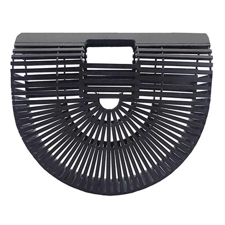 black bamboo purse