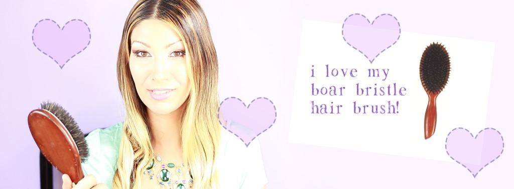 I love my boar bristle hair brush!