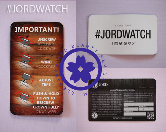 how to set the time JORD watch