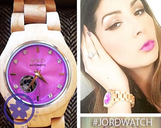 wearing jord watch