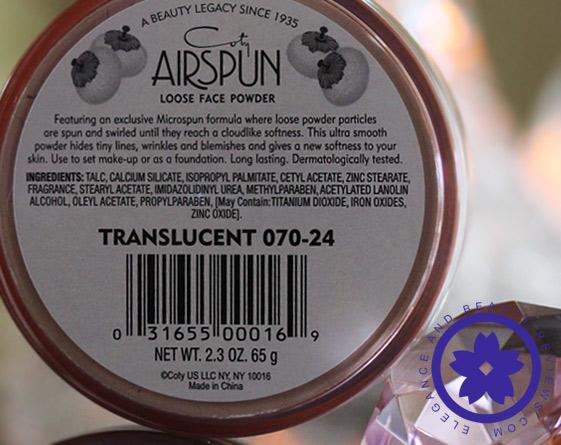 coty airspun ingredients