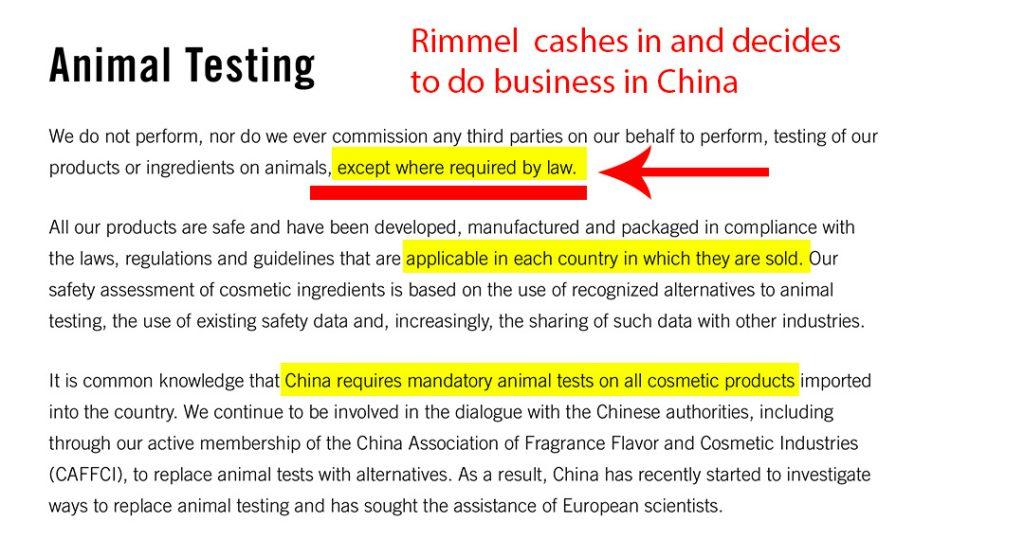 is rimmel cruelty free?