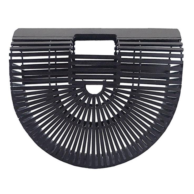black bamboo purse