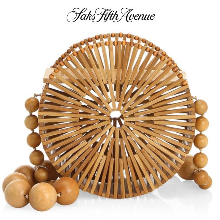 circle bamboo bag