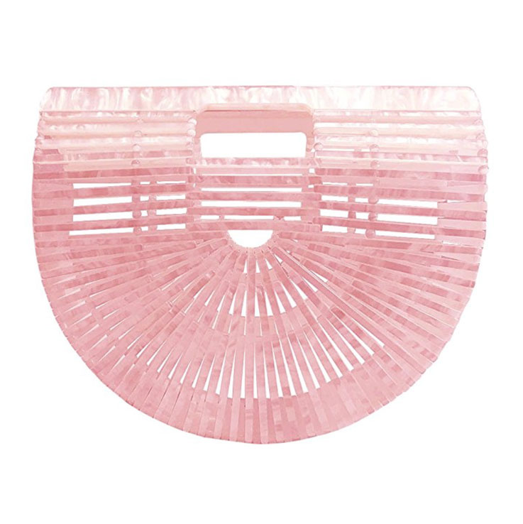 pink bamboo purse