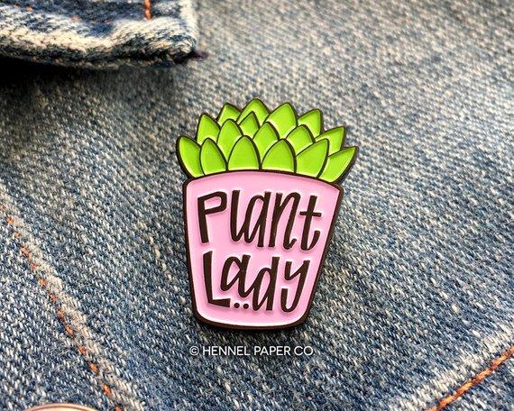 plant lady pin