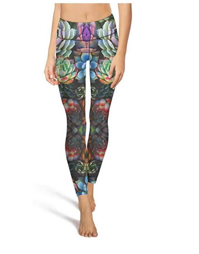 succulent yoga pants